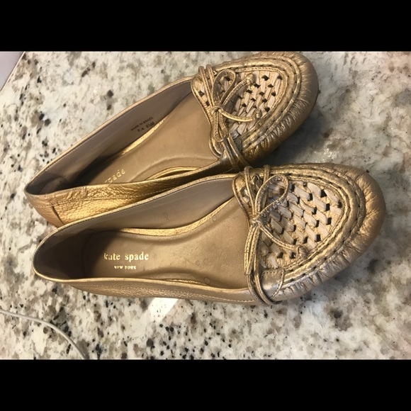 8d74c81f8 kate spade Shoes - GORGEOUS Kate Spade Gold Loafers, 6.5